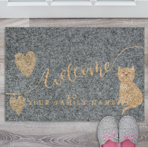 Personalised welcome mat