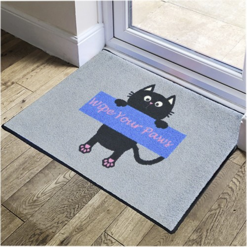 Wipe Your Paws Blue Pet Mats