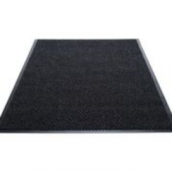 Chevron Safe and Resilient Carpeted Indoor Matting